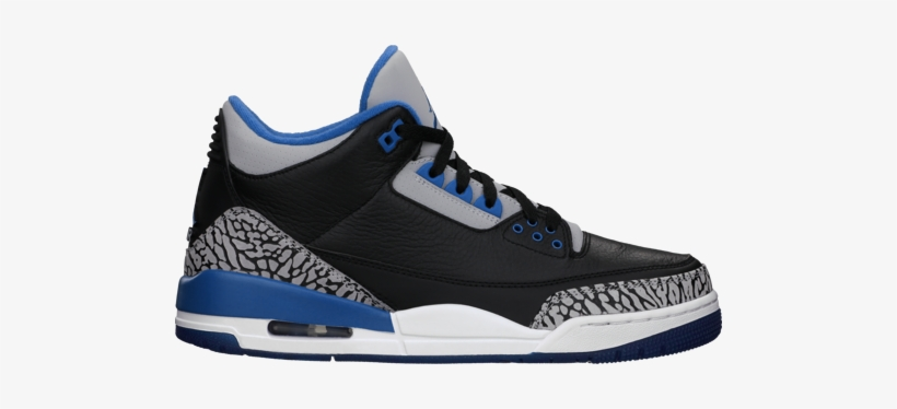 newest c2f87 f7302 Nike Air Jordan 3 Retro Bg Shoes - Air Jordans 3 Sport Blue, transparent png