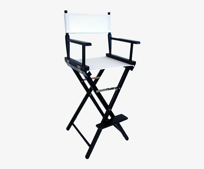 The Tall Directors Chair In Black Wood With A White - White Tall Directors Chair, transparent png #3163339