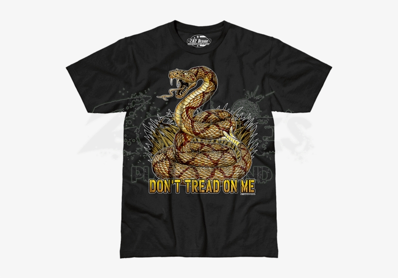 Don't Tread On Me Premium T-shirt - Past Time Signs Vs-t441 Dont T, transparent png #3163890