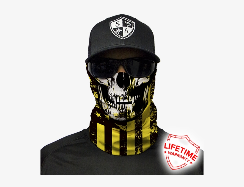 Dont Tread Skull Preview - Dont Tread On Me Face Mask, transparent png #3164113