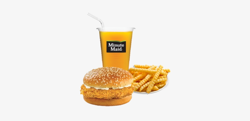 Chicken Burger - French Fries, transparent png #3164642