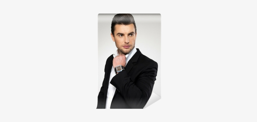 Fashion Young Businessman In Black Suit Wall Mural - Peanut Butter And Jelly For Two Ebook, transparent png #3166426
