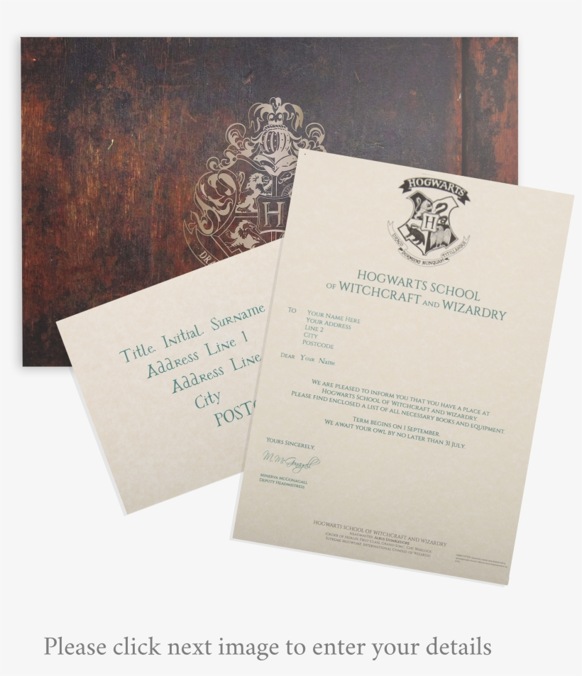 Custom Hogwarts Acceptance Letter.Receive Your Very Own Replica Hogwarts Acceptance Letter