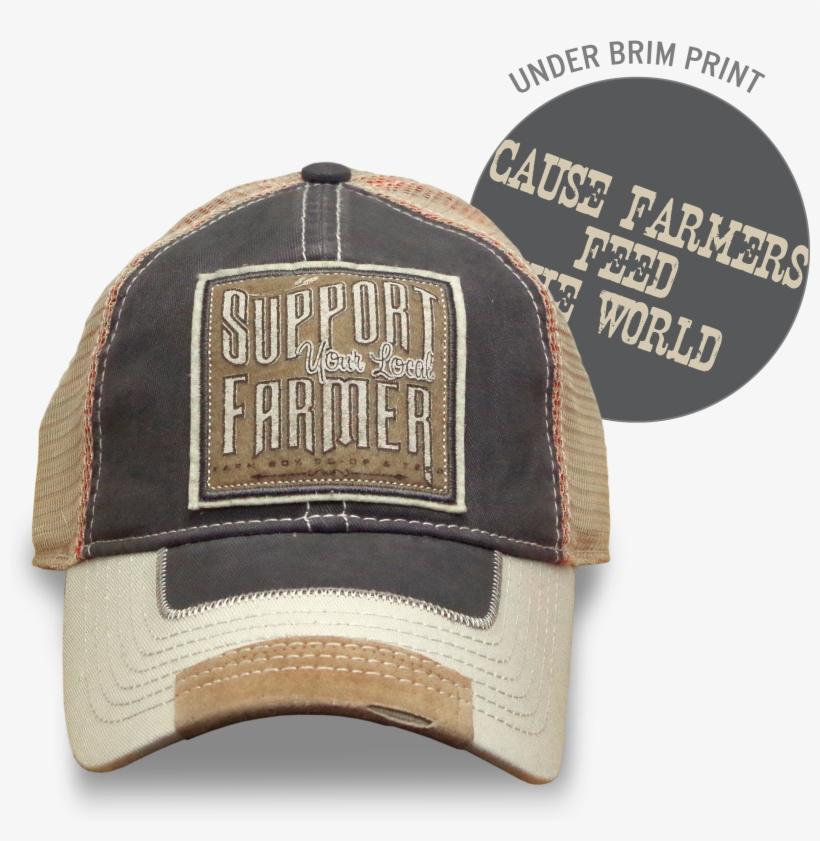 Khaki Support Your Local Farmer Hat - Farm Boy Men's Support Your Local Farmer Hat, transparent png #3167742