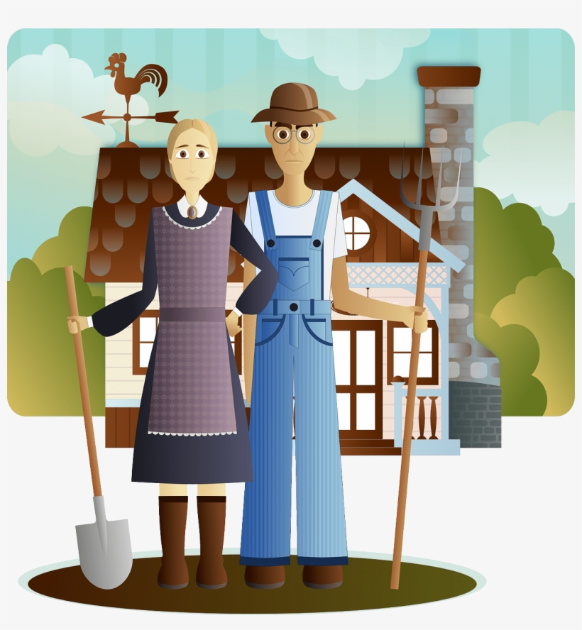 Man Woman Farmer - Do People Live In Savanna, transparent png #3168307