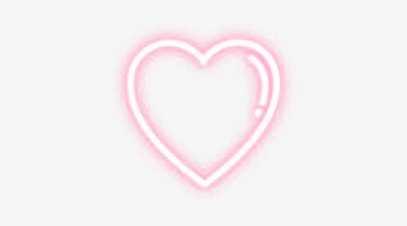 Heart Sticker Stickers Cute Glow Glowing Pink Light - Heart, transparent png #3170284