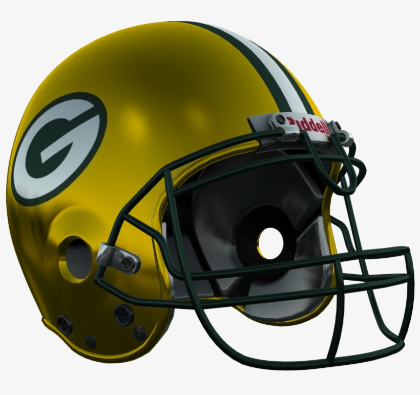 Green Bay Packers - Football Helmet, transparent png #3172213