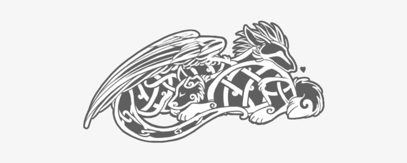 Celtic Dog And Dragon Tattoo Design - Celtic Dog Tattoos Designs, transparent png #3177201