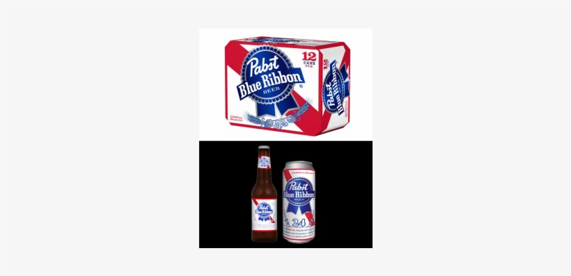 Pabst Blue Ribbon, Pabst, Pbr, American Adjunct Lager, - Pabst Blue Ribbon Beer - 24 Pack, 12 Fl Oz Cans, transparent png #3178713