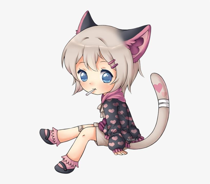 Toto, We're Not In Kansas Anymore - Anime Chibi Girl Sitting, transparent png #3179908