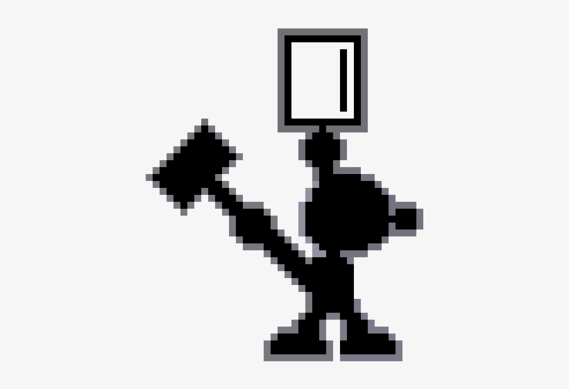 Mr Game And Watch - Mr Game And Watch 8 Bit, transparent png #3180290