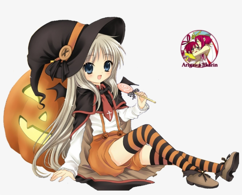 Halloween Anime Girl Render, transparent png #3180315