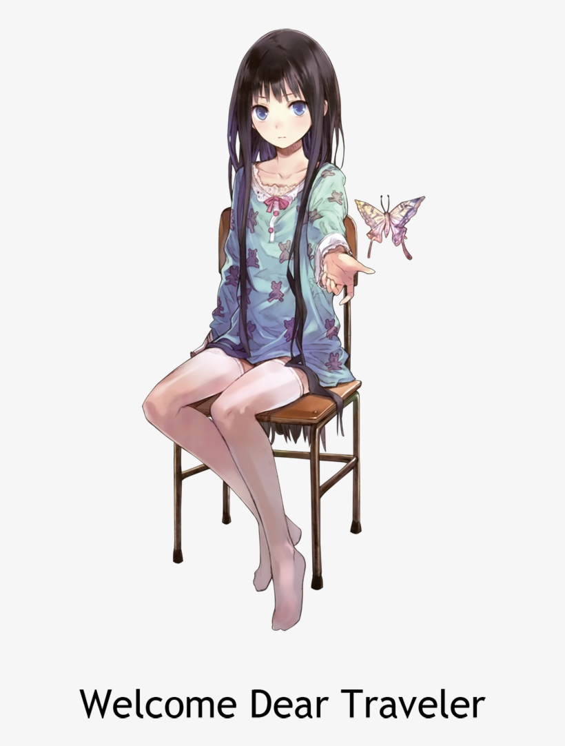 Http - //i - Imgur - Com/3zfyq - Cute Black Haired Anime Girl, transparent png #3180335
