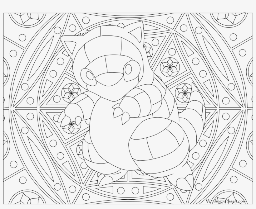 #027 Sandshrew Pokemon Coloring Page - Coloring Pages Pokemon Adult, transparent png #3182007