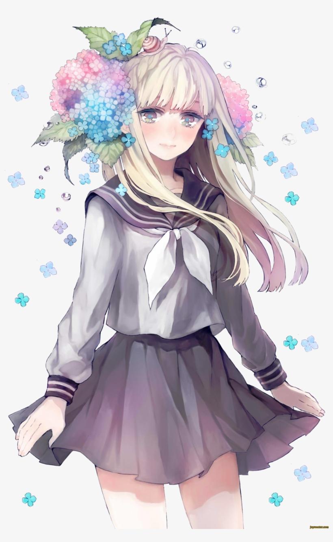 Kết Quả Hình Ảnh Cho Anime Flower - Anime Girl School Uniform, transparent png #3183462