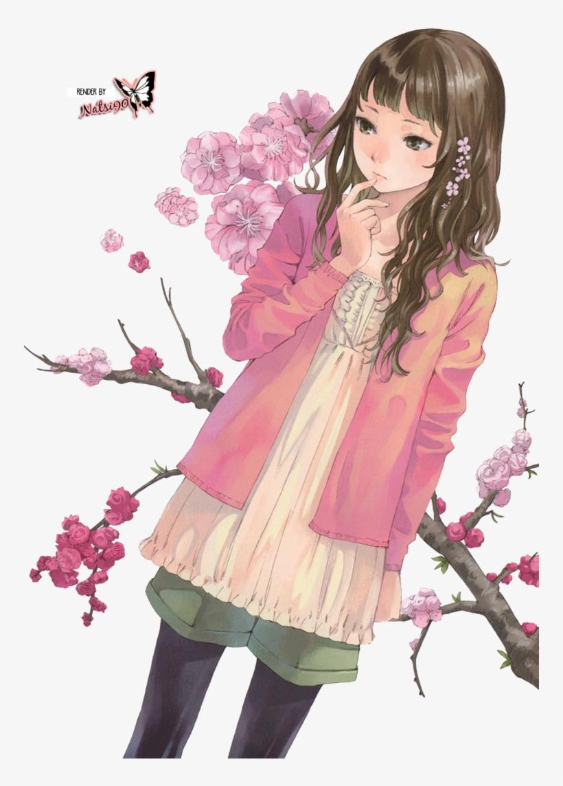 Anime Girl Render Flower, transparent png #3183499