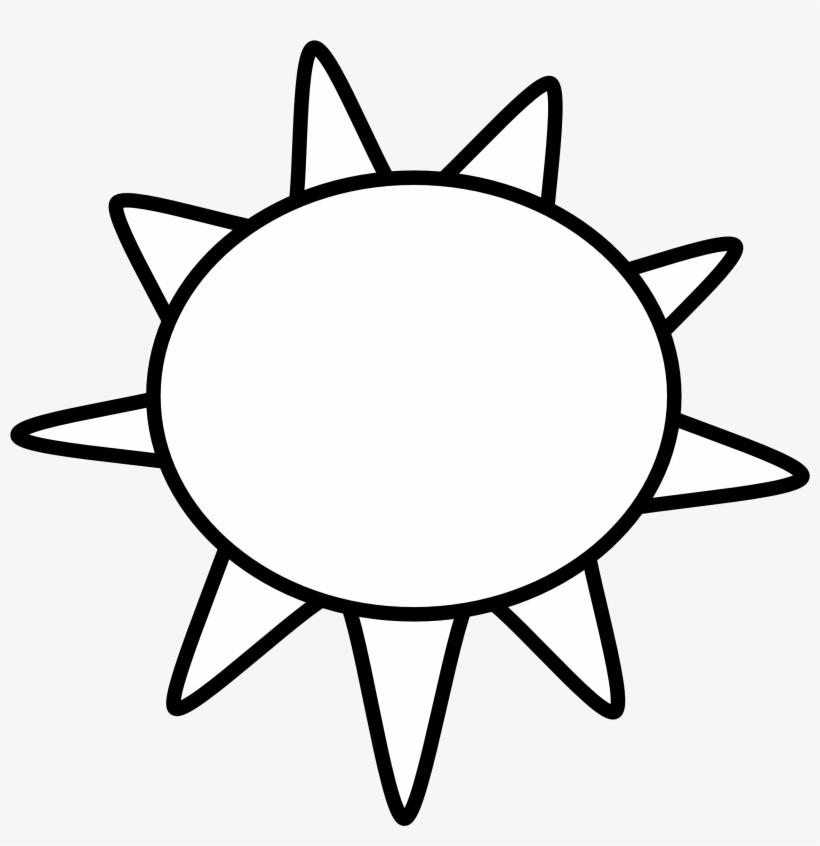 Sun Clip Art Black And White Sun Outline Black White Sunny Clip