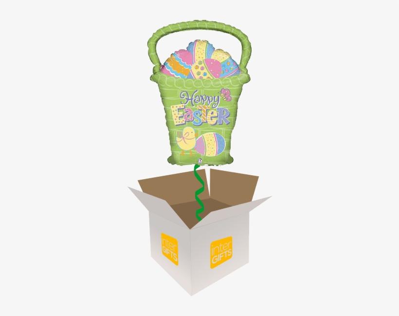 28″ Easter Egg Basket - Balloon Shape Easter Egg, transparent png #3186381