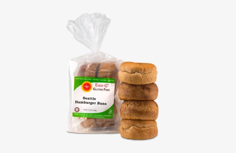 Ener-g Seattle Hamburger Buns - Ener-g - Gluten-free Bread High Fiber Loaf - 16 Oz., transparent png #3191333