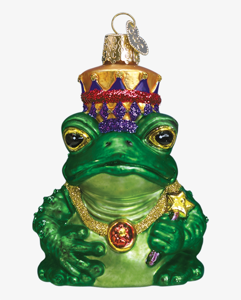 Christmas Corner Decorations Png Find Craft Ideas - Fairy Tale Frog King Glass Ornament By Old World Christmas, transparent png #3192092