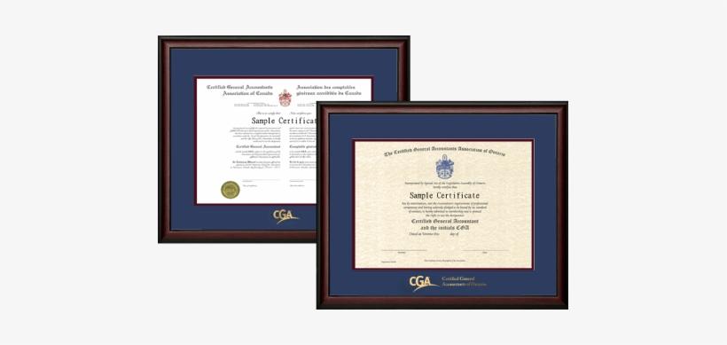 2x Cga Ontario Frames - Cpa Ontario Certificate Frame, transparent png #3193723