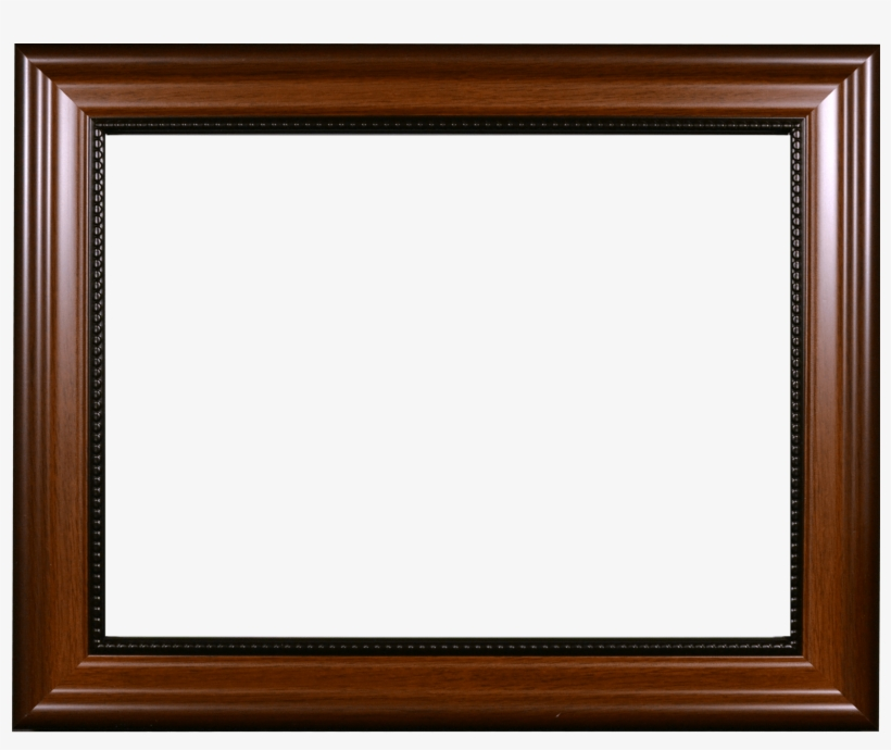 Walnut With Bead Certificate Frame Made At Wyman Frame - Vintage Frame, transparent png #3194050