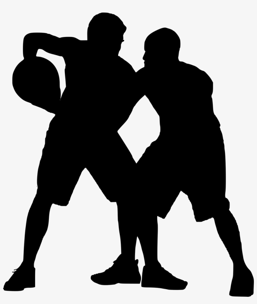 Silhouette,basketball Player,nba,basketball Hoop - Basketball Court Silhouette Png, transparent png #3196560