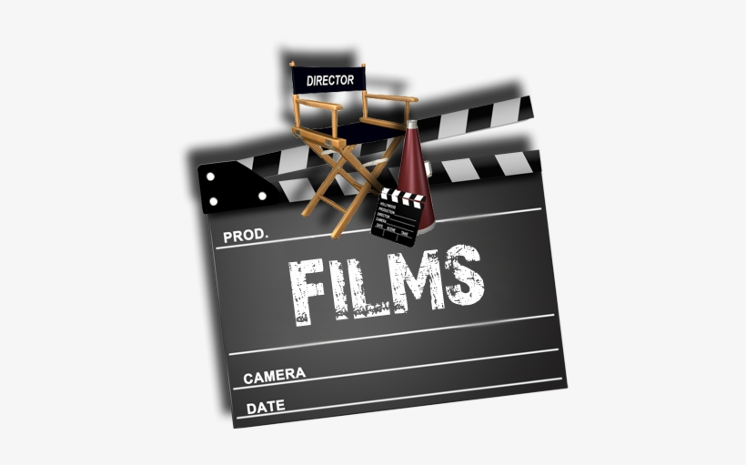 Films Clapboard Director Chair - Film Director Chair Png, transparent png #3198083
