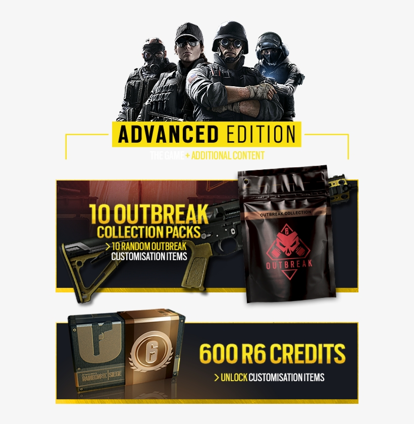 Get The New Tom Clancy's Rainbow Six® Siege Advanced - Tom