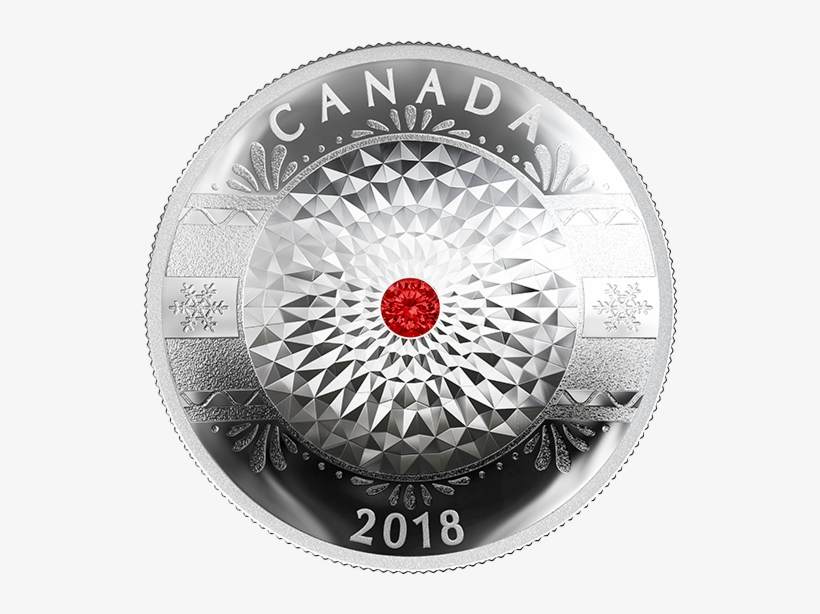 Pure Silver Coin With Swarovski® Crystals - Silver Coin, transparent png #3199467