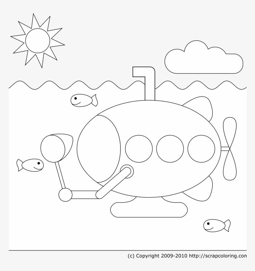 Vector Beatles Drawing Coloring Page Gambar Mewarnai Kapal Selam