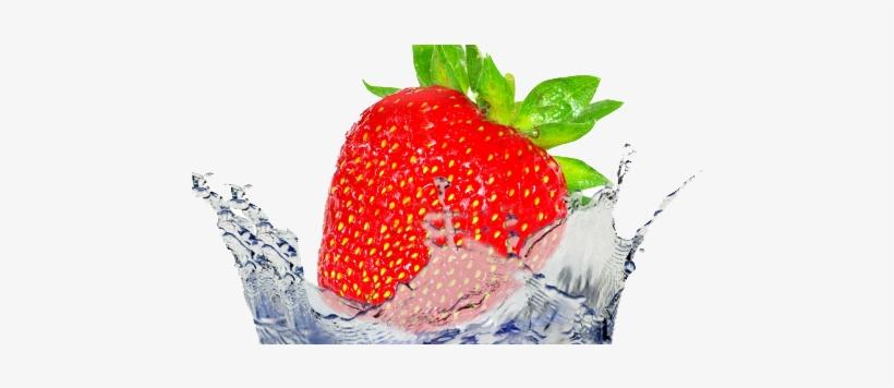 Fruit Water Splash - Strawberry Water Splash Png, transparent png #320209