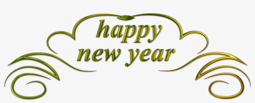 Happy New Year Text Png 11