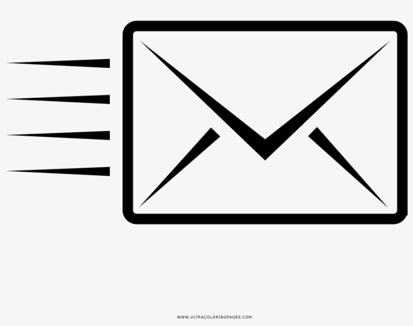Envelope Coloring Page - Drawing - Free Transparent PNG Download - PNGkey