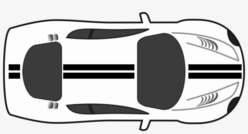 Black And White Race Car Png Transparent Black And - Car Top View Icon, transparent png #324892