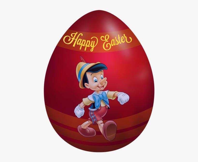 Kids Easter Egg Pinocchio Png Clip Art Image - Characters Disney Easter Egg Clip Art, transparent png #326596