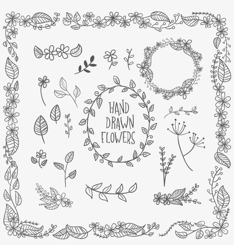 Image Transparent Download Flower Leaf Euclidean Pattern - Calligraphy Border, transparent png #327175
