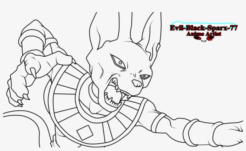 Beerus Attacking Dragon Ball Z Beerus Drawing Free Transparent