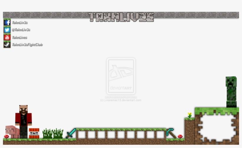 Minecraft Twitch Overlay Template Overlays, Geek Stuff, - Minecraft