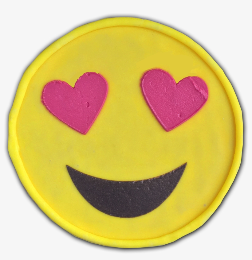 Heart Eyes Emoji Cookie - Emoji Pillow Pink Heart Eyes, transparent png #329854