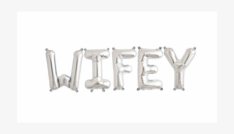 16 Inch Letter W - Silver Air-filled Foil Balloon, transparent png #3202802