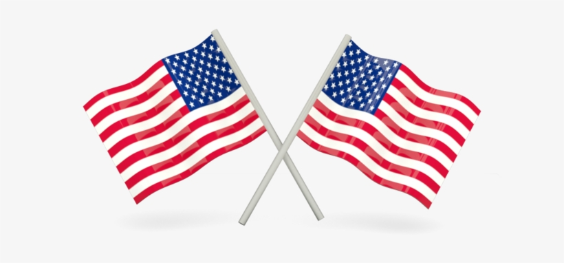 Two American Flags Crossed, transparent png #3203340