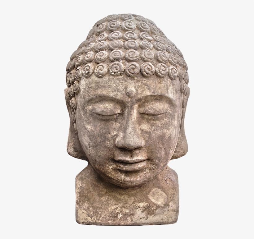 Buddha, Figure, Ceramic, Head, Face, Sculpture - Buddhism, transparent png #3204506