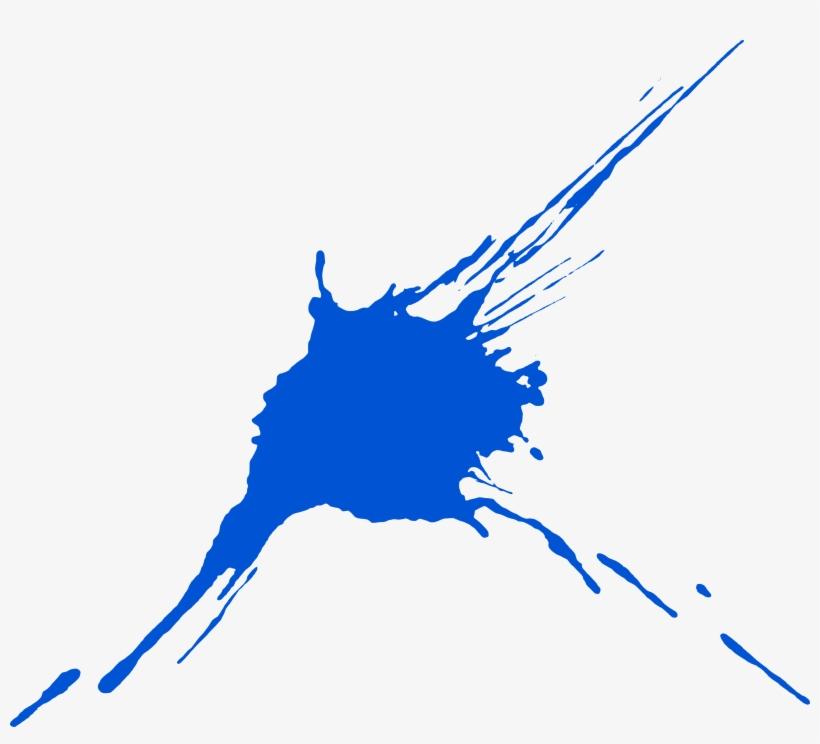 10 Blue Paint Splatters - Blue Paint Splatter Transparent, transparent png #3207107