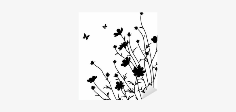 Genial Flowers Silhouette Sticker U2022 Pixers® U2022 We Live To Change   Silhouette Of A  Flower