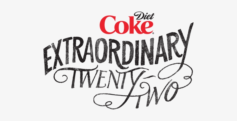 Extraordinary 22 3 Logo, Hand Drawn Type, Diet Coke, - Diet Coke - 20 Pack, 12 Fl Oz Cans, transparent png #3211820