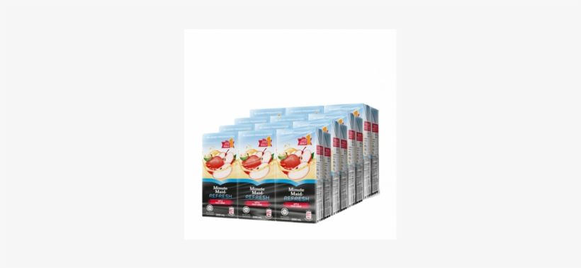 Minute Maid Refresh Apple 4x6x200ml - Minute Maid Refresh Apple Fruit Drink, transparent png #3215478