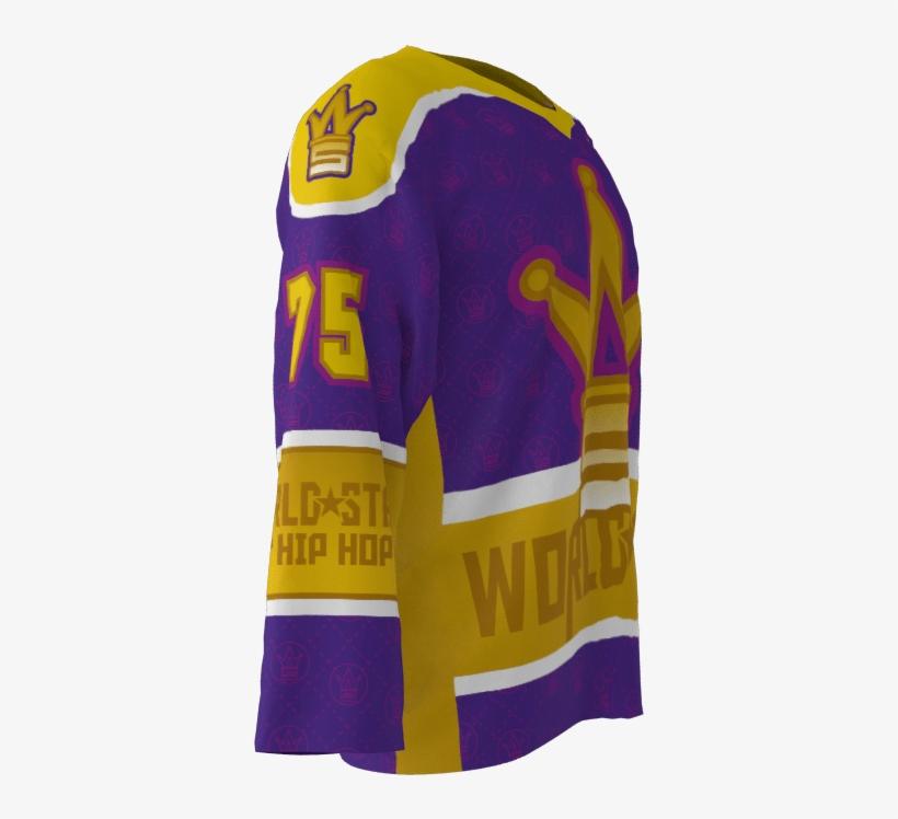 World Star Hip Hop Custom Roller Hockey Jersey - Hip Hop, transparent png #3216794