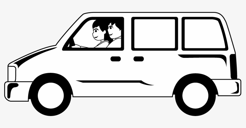 Black And White Clip Art Van Free Transparent Png Download Pngkey