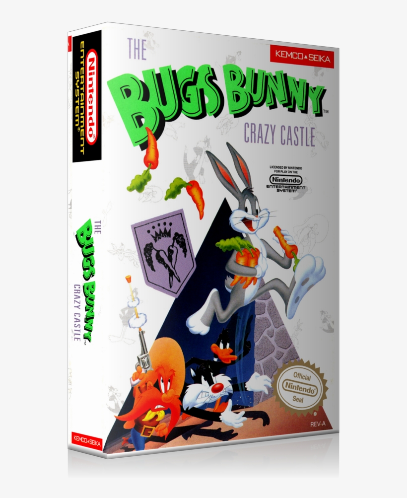 Nes Bugs Bunny In Crazy Castle Retail Game Cover To - Nintendo Bugs Bunny Crazy Castle, transparent png #3220342